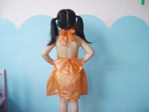 儿童走秀环保服装女