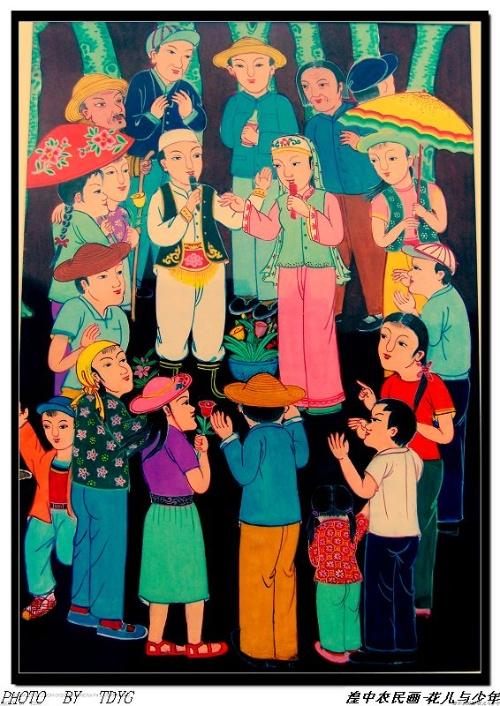 藏族风情简笔画