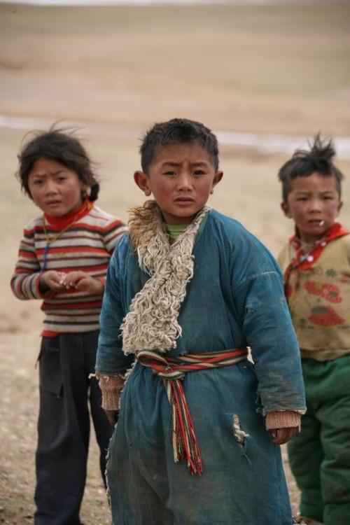 可爱的藏族孩子