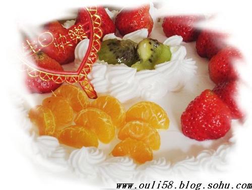 祝福的生日蛋糕图片