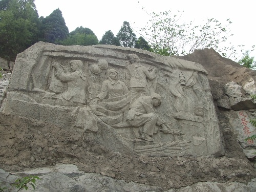 红旗渠雕塑群