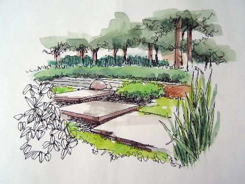 手绘效果图室内平面手绘效果图小区景观手绘效