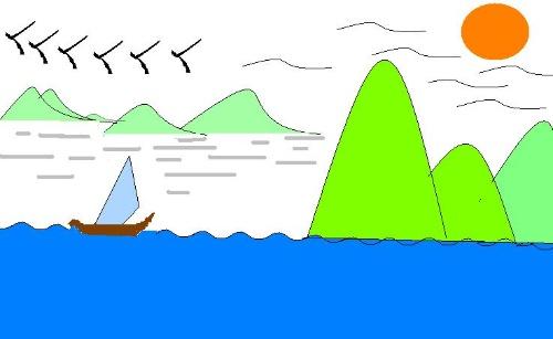 学生电脑绘画作品-高山流云-搜狐博客