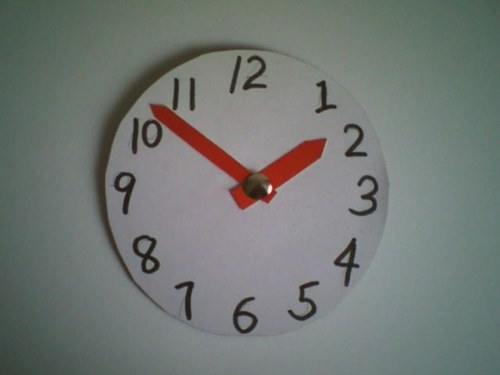 可爱的钟表——学具展示