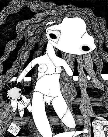 日本大师插画;; 趣味黑白装饰画;