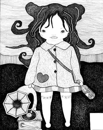情而不色的黑白装饰画(100p) -山花烂漫-搜狐博客