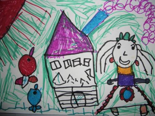 围棋儿童画简笔画漫画