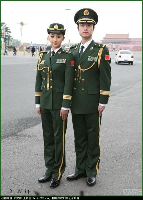 解放军全系列07式军服-大城小爱 -武警军官大衣 07武警常服大衣 武