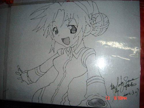 雅典娜黑白手绘