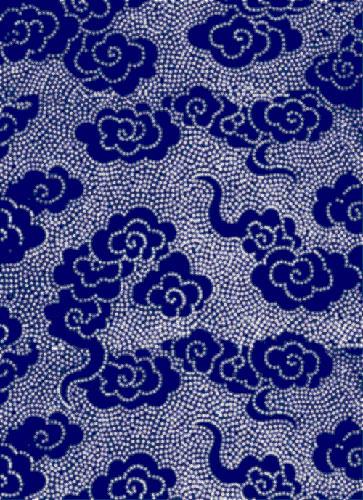 蓝色印花布从百度图片下载