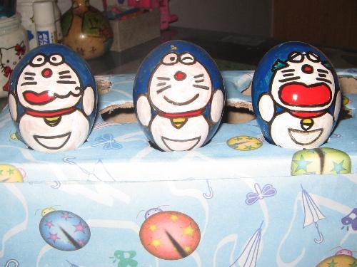 可爱的蛋壳宝宝们------送给天天的生日礼物